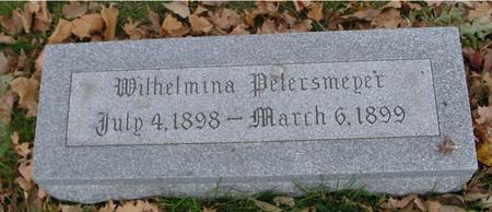 PETERSMEYER, WILHELMINA - Sac County, Iowa | WILHELMINA PETERSMEYER