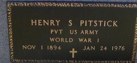 PITSTICK, HENRY S. - Sac County, Iowa   HENRY S. PITSTICK