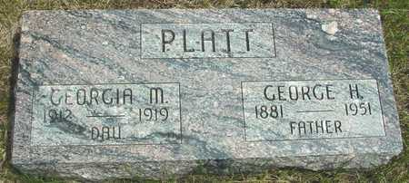 PLATT, GEORGE & GEORGIA - Sac County, Iowa   GEORGE & GEORGIA PLATT