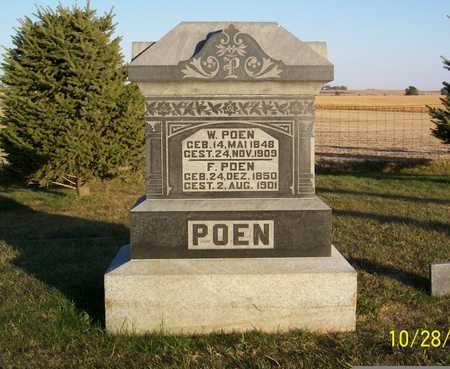 POEN, WUBBE - Sac County, Iowa | WUBBE POEN