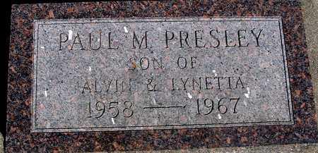 PRESLEY, PAUL M. - Sac County, Iowa   PAUL M. PRESLEY