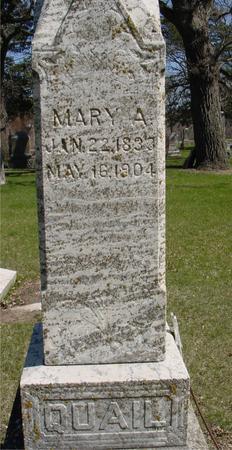 QUAIL, MARY A. - Sac County, Iowa | MARY A. QUAIL