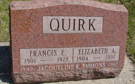 QUIRK, FRANCIS & ELIZABETH - Sac County, Iowa | FRANCIS & ELIZABETH QUIRK