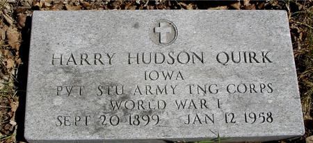 QUIRK, HARRY HUDSON - Sac County, Iowa | HARRY HUDSON QUIRK