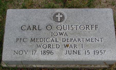QUISTORFF, CARL O. - Sac County, Iowa | CARL O. QUISTORFF