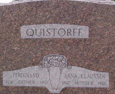 QUISTORFF, FERDINAND & ANNA - Sac County, Iowa | FERDINAND & ANNA QUISTORFF