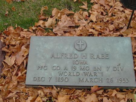 RABE, ALFRED H. - Sac County, Iowa | ALFRED H. RABE