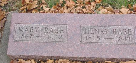 RABE, HENRY & MARY - Sac County, Iowa   HENRY & MARY RABE