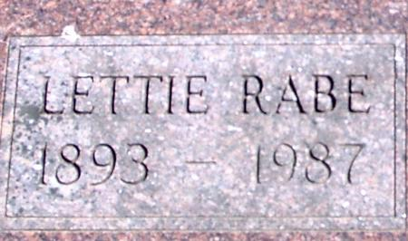 RABE, LETTIE - Sac County, Iowa | LETTIE RABE