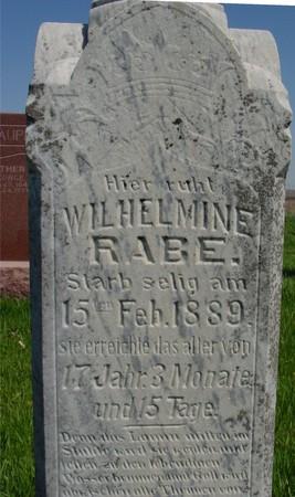 RABE, WILHELMINE - Sac County, Iowa | WILHELMINE RABE