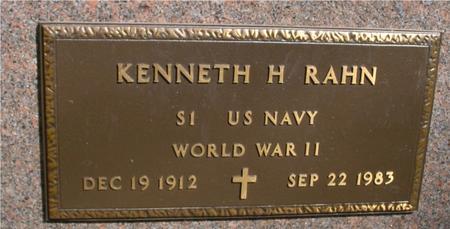 RAHN, KENNETH H. - Sac County, Iowa   KENNETH H. RAHN
