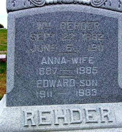 REHDER, WM. & ANNA - Sac County, Iowa   WM. & ANNA REHDER