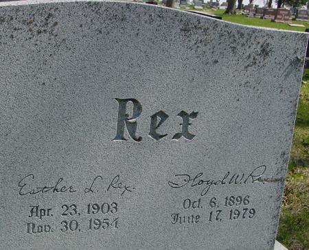 REX, FLOYD & ESTHER - Sac County, Iowa | FLOYD & ESTHER REX