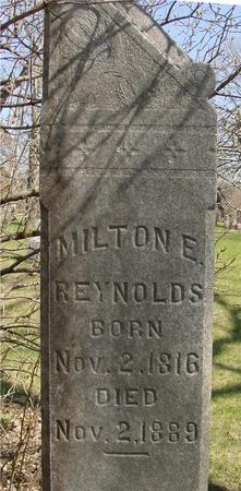 REYNOLDS, MILTON E. - Sac County, Iowa | MILTON E. REYNOLDS