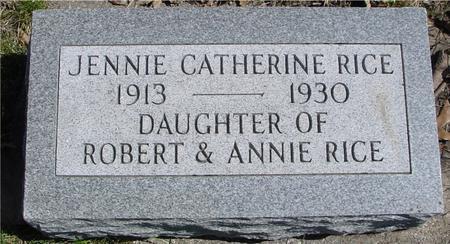 RICE, JENNIE CATHERINE - Sac County, Iowa | JENNIE CATHERINE RICE