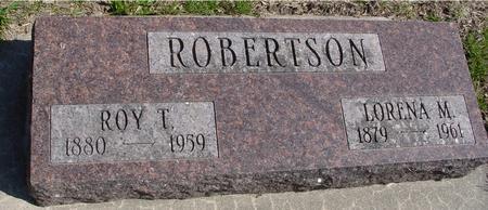 ROBERTSON, ROY T. & LORENA - Sac County, Iowa | ROY T. & LORENA ROBERTSON