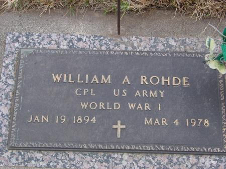 ROHDE, WILLIAM A. - Sac County, Iowa | WILLIAM A. ROHDE