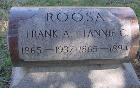 ROOSA, FRANK A. - Sac County, Iowa | FRANK A. ROOSA