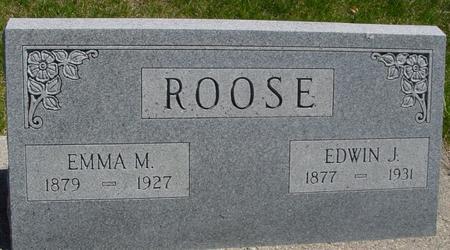 ROOSE, EDWIN & EMMA M. - Sac County, Iowa | EDWIN & EMMA M. ROOSE