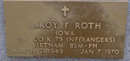 ROTH, LEROY F. - Sac County, Iowa   LEROY F. ROTH