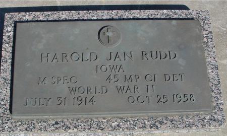 RUDD, HAROLD JAN - Sac County, Iowa   HAROLD JAN RUDD