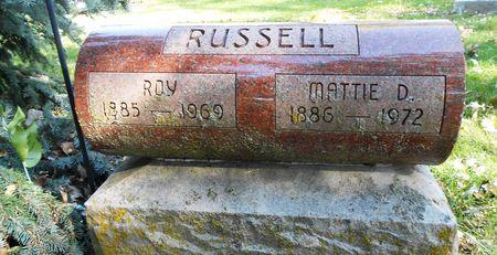 RUSSELL, MATTIE DRUCILLA - Sac County, Iowa | MATTIE DRUCILLA RUSSELL