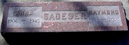 SAGESER, RAYMOND & ANNA - Sac County, Iowa   RAYMOND & ANNA SAGESER
