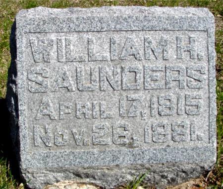 SAUNDERS, WILLIAM H. - Sac County, Iowa   WILLIAM H. SAUNDERS