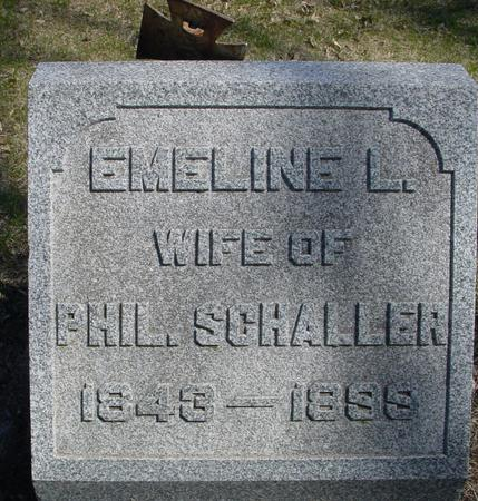 KNIGHT SCHALLER, EMELINE LUCRETIA - Sac County, Iowa | EMELINE LUCRETIA KNIGHT SCHALLER