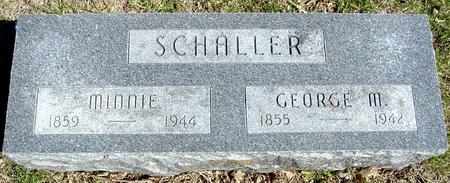 SCHALLER, GEORGE & MINNIE - Sac County, Iowa | GEORGE & MINNIE SCHALLER