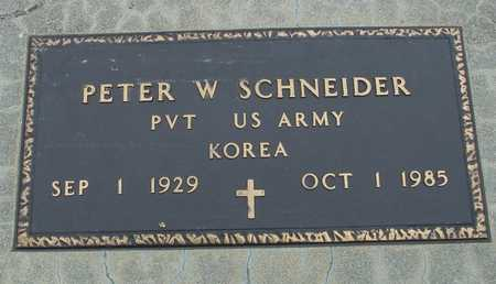 SCHNEIDER, PETER W. - Sac County, Iowa | PETER W. SCHNEIDER