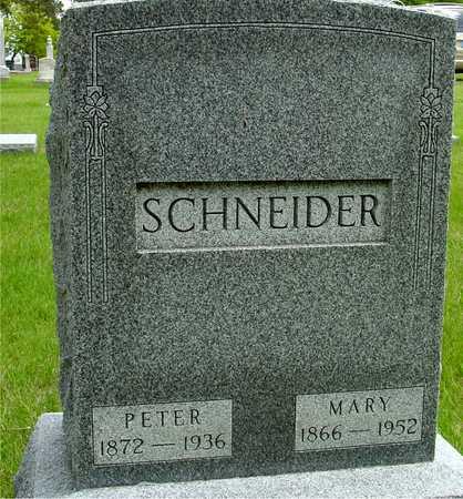 SCHNEIDER, PETER & MARY - Sac County, Iowa   PETER & MARY SCHNEIDER