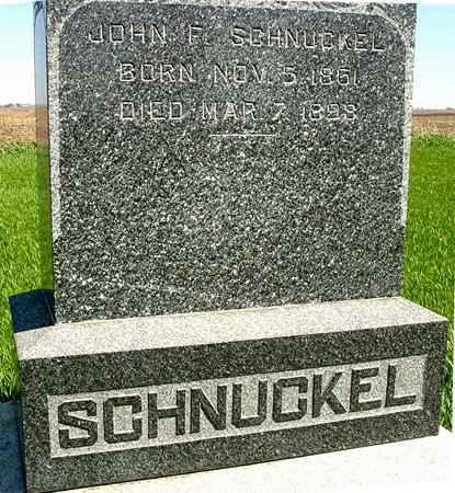 SCHNUCKEL, JOHN F. - Sac County, Iowa | JOHN F. SCHNUCKEL