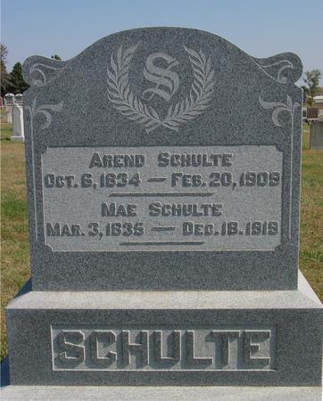 SCHULTE, AREND & MAE - Sac County, Iowa | AREND & MAE SCHULTE