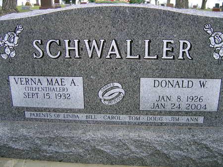 SCHWALLER, DONALD W. - Sac County, Iowa | DONALD W. SCHWALLER