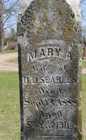 SEARLES, MARY - Sac County, Iowa   MARY SEARLES