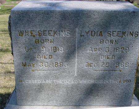 SEEKINS, WILLIAM E. - Sac County, Iowa   WILLIAM E. SEEKINS