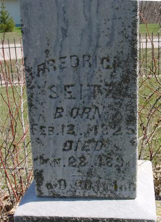 SEITZ, FREDERICK - Sac County, Iowa | FREDERICK SEITZ