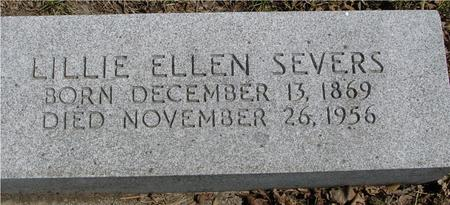 SEVERS, LILLIE ELLEN - Sac County, Iowa | LILLIE ELLEN SEVERS
