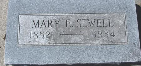 SEWELL, MARY E. - Sac County, Iowa | MARY E. SEWELL