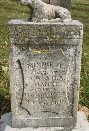 SHANKS, MINNIE L. - Sac County, Iowa | MINNIE L. SHANKS