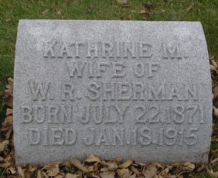SHERMAN, KATHERINE M. - Sac County, Iowa | KATHERINE M. SHERMAN