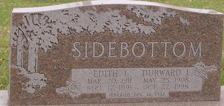 SIDEBOTTOM, DURWARD & EDITH - Sac County, Iowa | DURWARD & EDITH SIDEBOTTOM