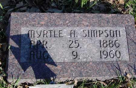 SIMPSON, MYRTLE A. - Sac County, Iowa | MYRTLE A. SIMPSON