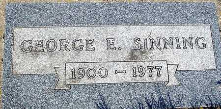 SINNING, GEORGE E. - Sac County, Iowa | GEORGE E. SINNING