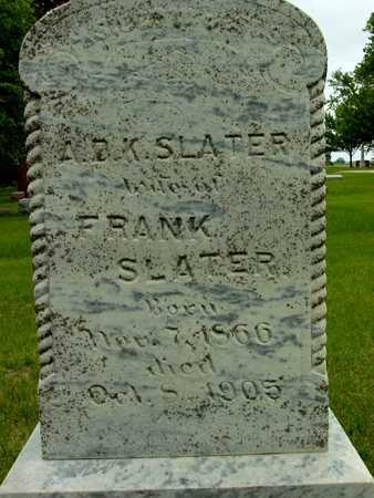 SLATER, A.D.K. - Sac County, Iowa | A.D.K. SLATER