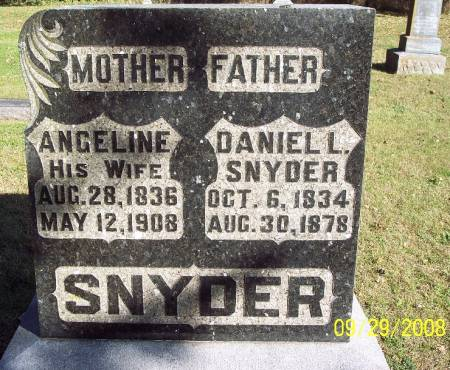 SNYDER, ANGELINE - Sac County, Iowa   ANGELINE SNYDER