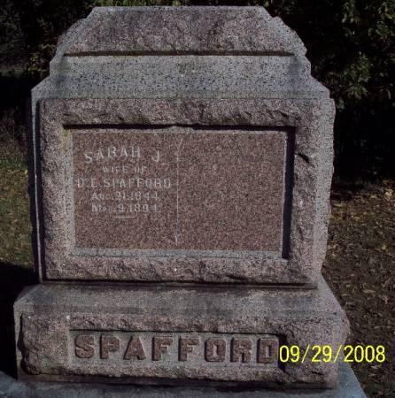 SPAFFORD, SARAH J - Sac County, Iowa   SARAH J SPAFFORD