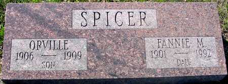 SPICER, ORVILLE & FANNIE - Sac County, Iowa | ORVILLE & FANNIE SPICER