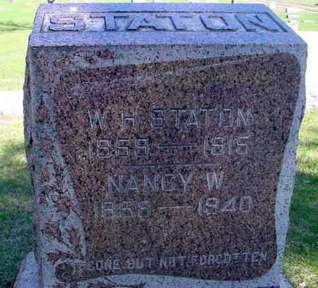 STATON, W. H. & NANCY - Sac County, Iowa   W. H. & NANCY STATON